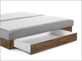 Infobild für Bettschublade und Sockel aus Echtholz