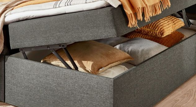 Boxbett Rovito mit leicht zu öffnenden Bettkasten