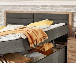 Boxbett Rovito mit Kopfteil-Umrandung aus Holznachbildung