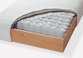 Boxspring-Box mit Federkern und Holzrahmen