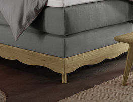 Boxspringbett Muanda mit hochstabiler Konstruktion aus Holz