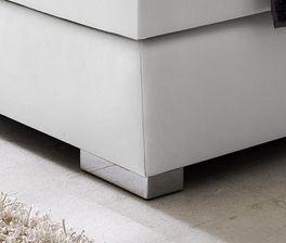 Boxspringbett Rimori mit niedrigen Metall-Füßen