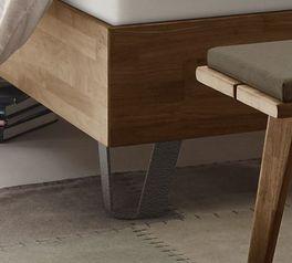 Boxspringbett Sagunto mit Füßen im Industrial-Look