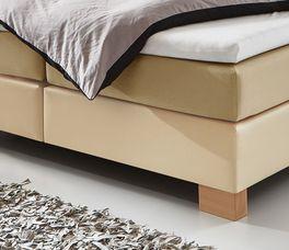 Boxspringbett Sunshine mit stabilen Bettbeinen aus Holz