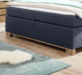 Boxspringbett Valloria mit stabilem Bettfuß aus Holz
