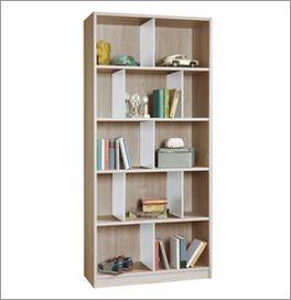 Bücherregal Tropea mit alpinweißen Zwischenwänden