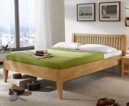 Doppelbett Glarus Komfort aus biologisch geöltem Holz