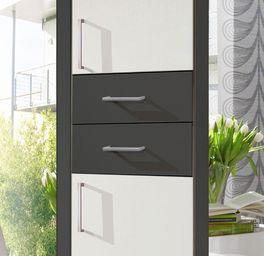 Drehtüren-Kleiderschrank Belcastro mit zwei praktischen Schubladen