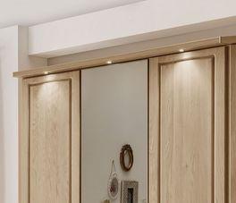 Drehtüren-Kleiderschrank Hazelton optional mit LED-Spots