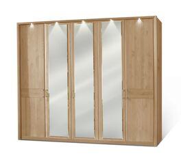 Drehtüren-Kleiderschrank Temara mit Parsol-Bronze-Spiegeltüren