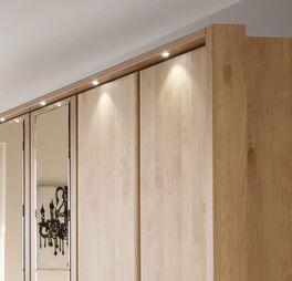 Drehtüren-Kleiderschrank Temara inklusive Passepartout-Rahmen mit Beleuchtung