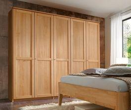 Günstiger Drehtüren-Kleiderschrank Triest aus Massivholz