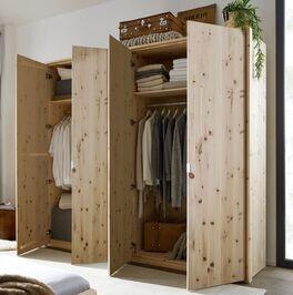 Drehtüren-Kleiderschrank Alistra mit praktischer Innenausstattung
