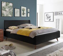 Elegantes Bett Malea mit hohem Bettrahmen