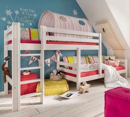 Etagenbett Kids Paradise für Dachschrägen mit Bettgestell aus Kiefer