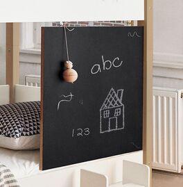 Kindersicheres Etagenbett Kids Town mit schwarzer Tafel