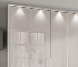 Falttüren-Kleiderschrank Northville mit stylischer Spotbeleuchtung