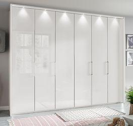 Falttüren-Kleiderschrank Westville mit stilvollen Lichtelementen