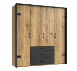Funktions-Kleiderschrank Lakewood mit 3 Schubladen