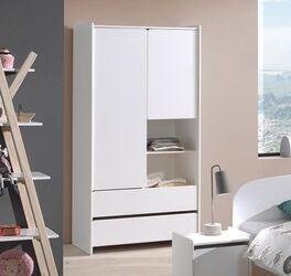Funktions-Kleiderschrank Maila mit großem Schubladen