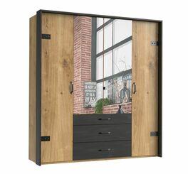 Funktions-Kleiderschrank Mancos mit 3 Schubladen