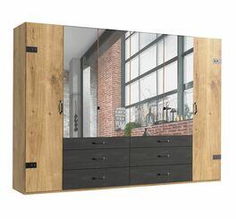 Funktions-Kleiderschrank Mancos mit vollflächigen Spiegeltüren in der Mitte