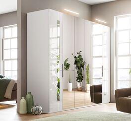 GALLERY M Spiegel-Drehtüren-Kleiderschrank IMOLA W in Weiß für Ordnung im Schlafzimmer