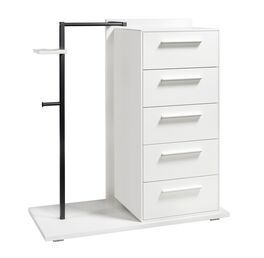 Moderne Garderoben-Kommode Cilona mit 5 Schubladen