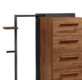 Garderoben-Kommode Ronario mit Holzgriffen
