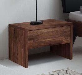 Geradliniger Nachttisch Carman aus Nussbaumholz