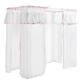 Modernes Himmelbett Asami mit weißem Vorhang