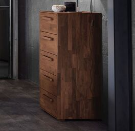 Hochkommode Jacalto mit Holzgriffen