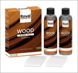 Praktisches Holzpflegeset zur Reinigung geölter Oberflächen