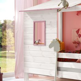 Abenteuer-Bett Kids Paradise für Mädchen inklusive Hütten-Aufsatz