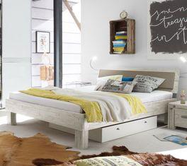 Jugendliches Bett Caldera aus modernem Massivholz