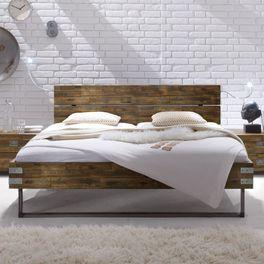 Bett Konna in 180x200 cm mit Eck-Metallbeschlägen