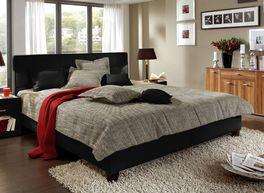 Design-Doppelbett Sansone schwarz