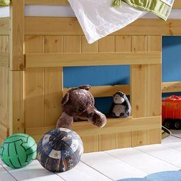 Hütten-Hochbett Kids Paradise für Jungen mit moderner Holzverkleidung