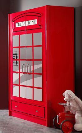 Kleiderschrank Paddington im Stil einer Londoner Telefonzelle