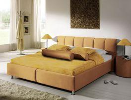 Das Polsterbett Modica mit eleganten Farben