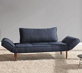 Hochwertiges Schlafsofa Lescott in modernem blau