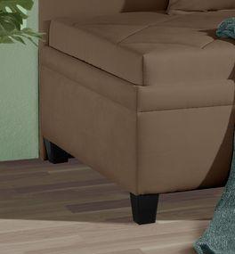 Sofaliege Kamina mit kontrastreichen Holzfüßen