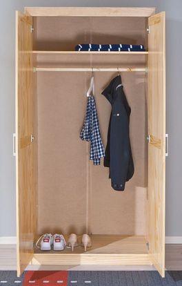 2-türiger Kleiderschrank aus Massivholz - Ternitz
