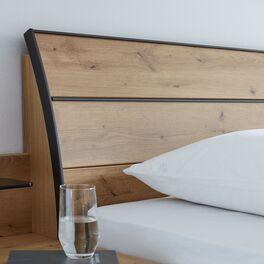 INTERLIVING Bett 1205 mit schieferfarbenen Kopfteil-Elementen