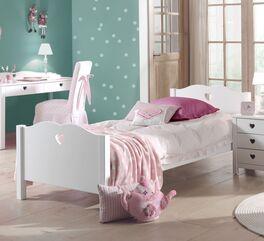 Weiß deckend lackiertes Jugendbett Asami