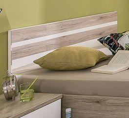 Modernes Jugendbett Tropea mit zweifarbigem Kopfteil