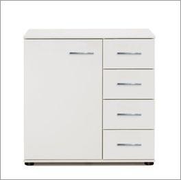 Weiße Kombi-Kommode Manati in modernem Design