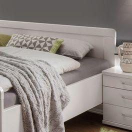 Komfort-Doppelbett Calimera mit gerundeten Kopfteil-Ecken