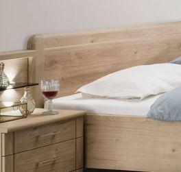 Komfort-Doppelbett Telford mit leicht gerundetem Kopfteil