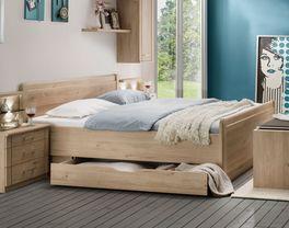 Stabiles Komfort-Doppelbett Telford mit geräumigem Schubkasten